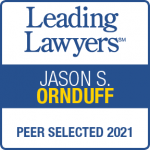 A Leading Lawyers badge for Jason S. Ornduff, a Chicago estate lawyer.